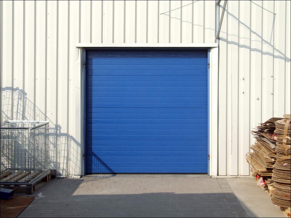 DITEC ipari kapu egyedi kék színben
